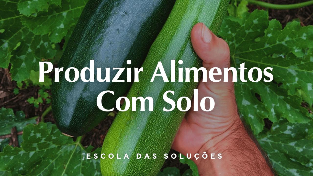 Produzir Alimentos Com Solo